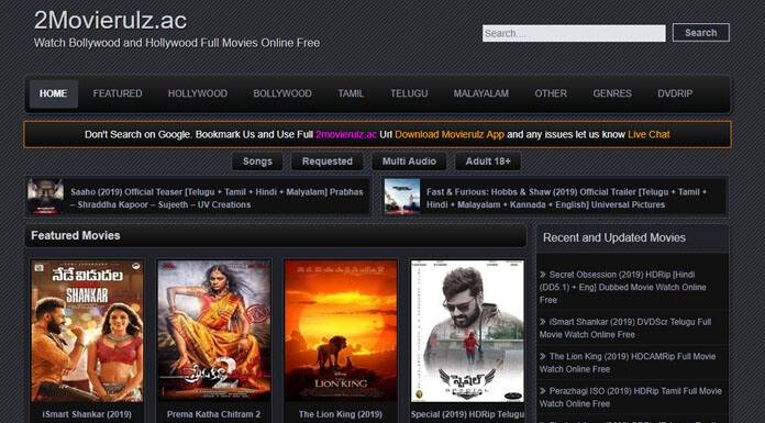 MovieRulz Download Tamil HD Movies, Telugu, Kannada, Malayalam