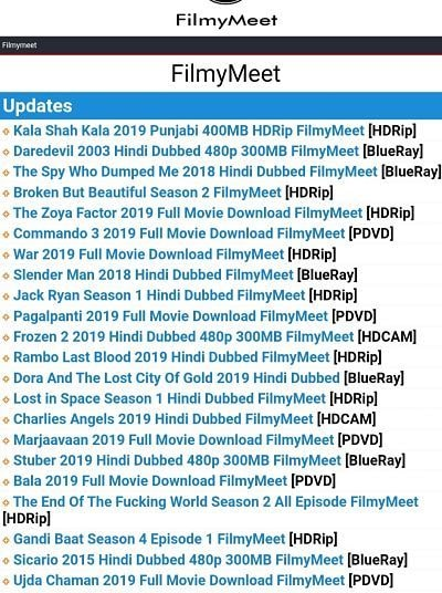 Filmymeet website
