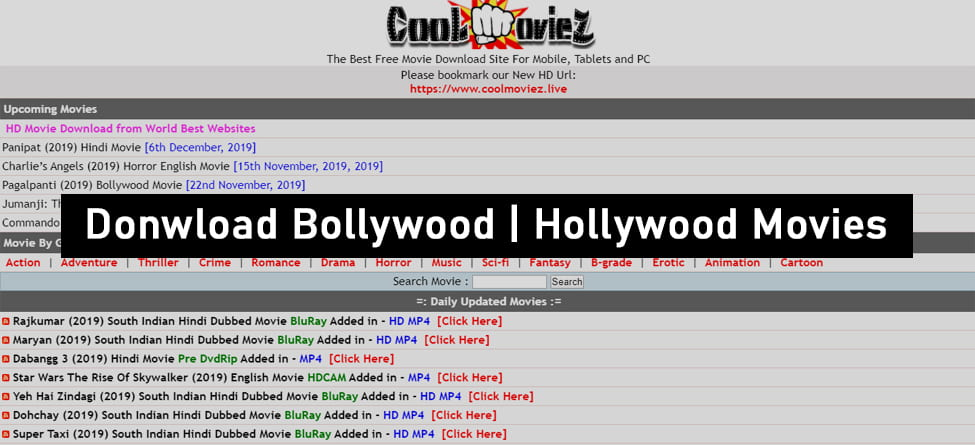 Coolmoviez Website