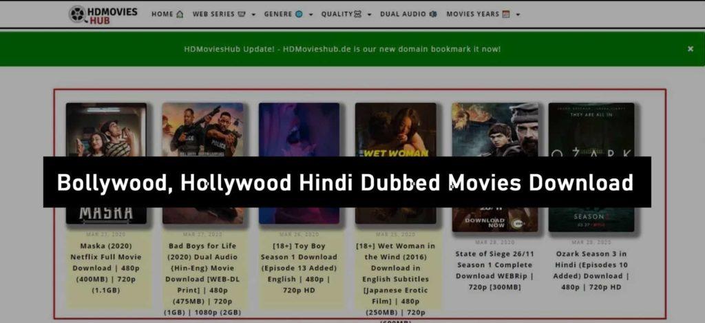 HDMoviesHub Website