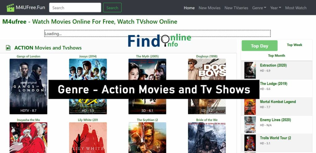 M4ufree Movies And TV Shows