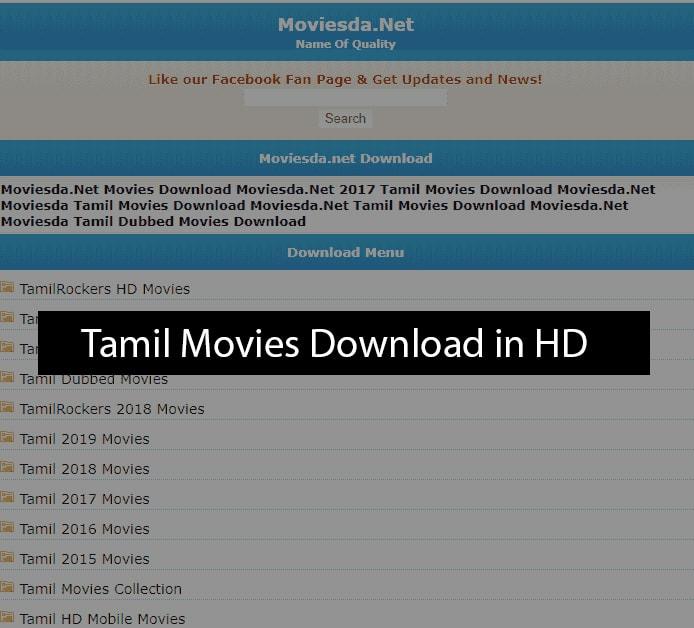 Moviesda Website