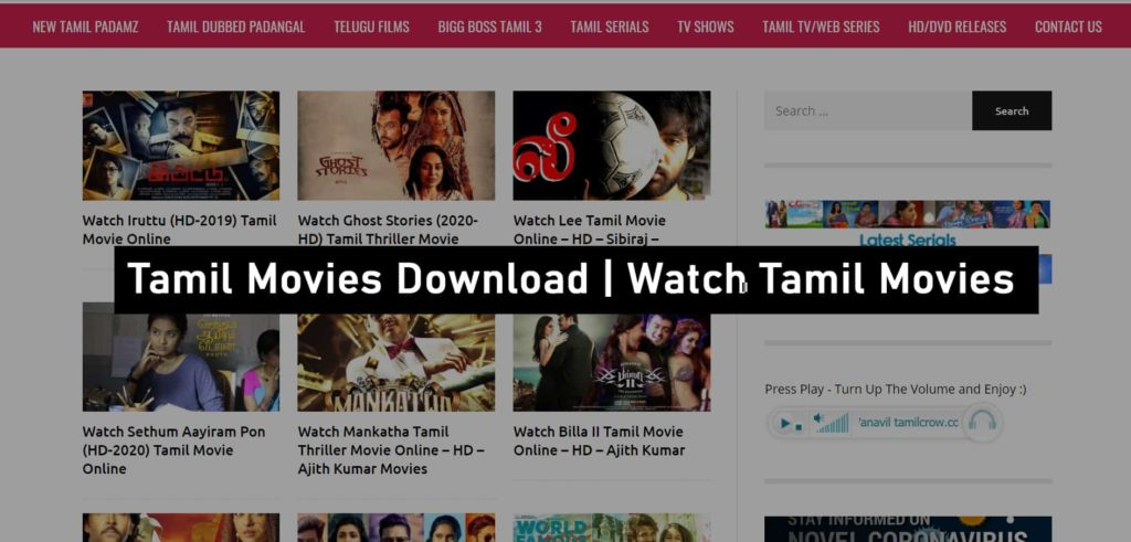 Tamilcrow Tamil Movies Download