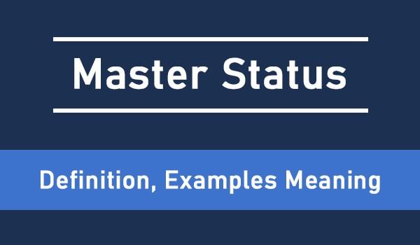 master status
