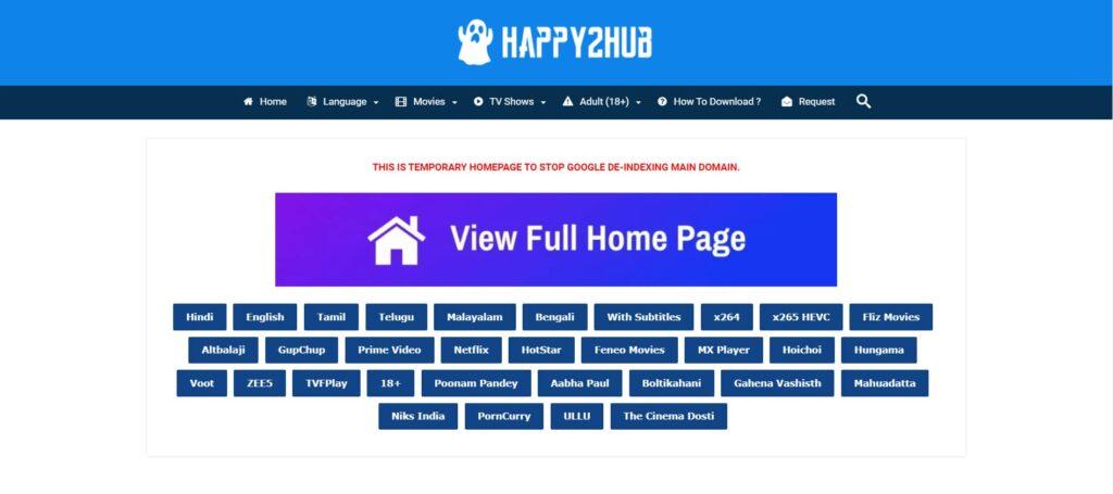 Happy2hub Website