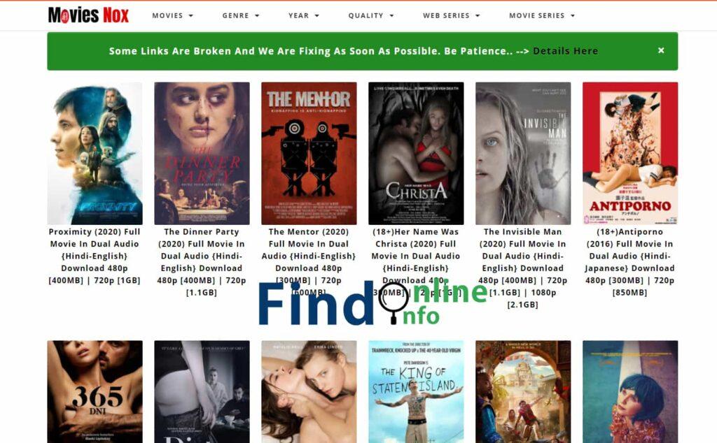 Moviesnox Website