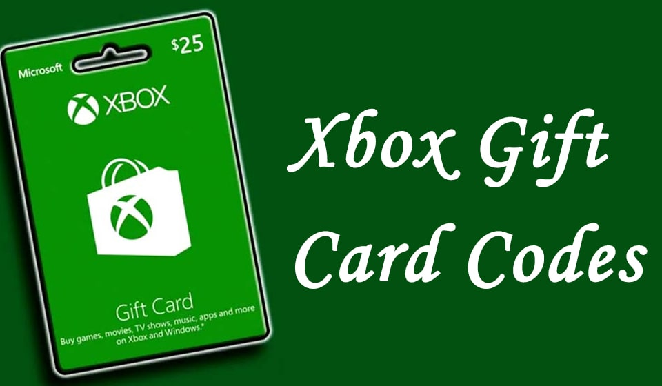 xbox gift card codes